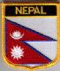 Nepal Embroidered Flag Patch, style 07.